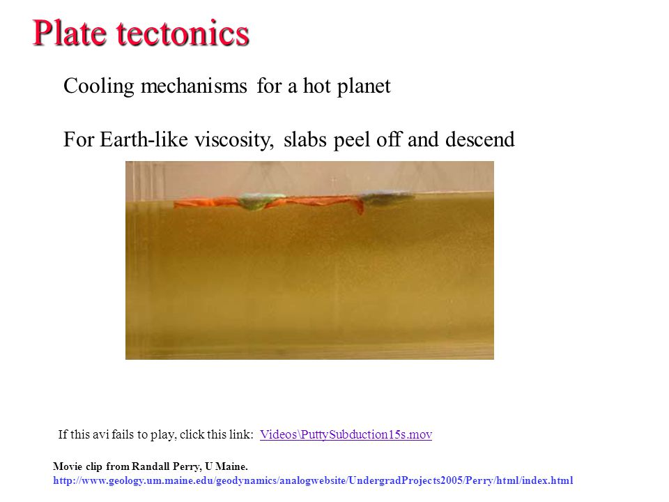 Plate tectonics Cooling mechanisms for a hot planet