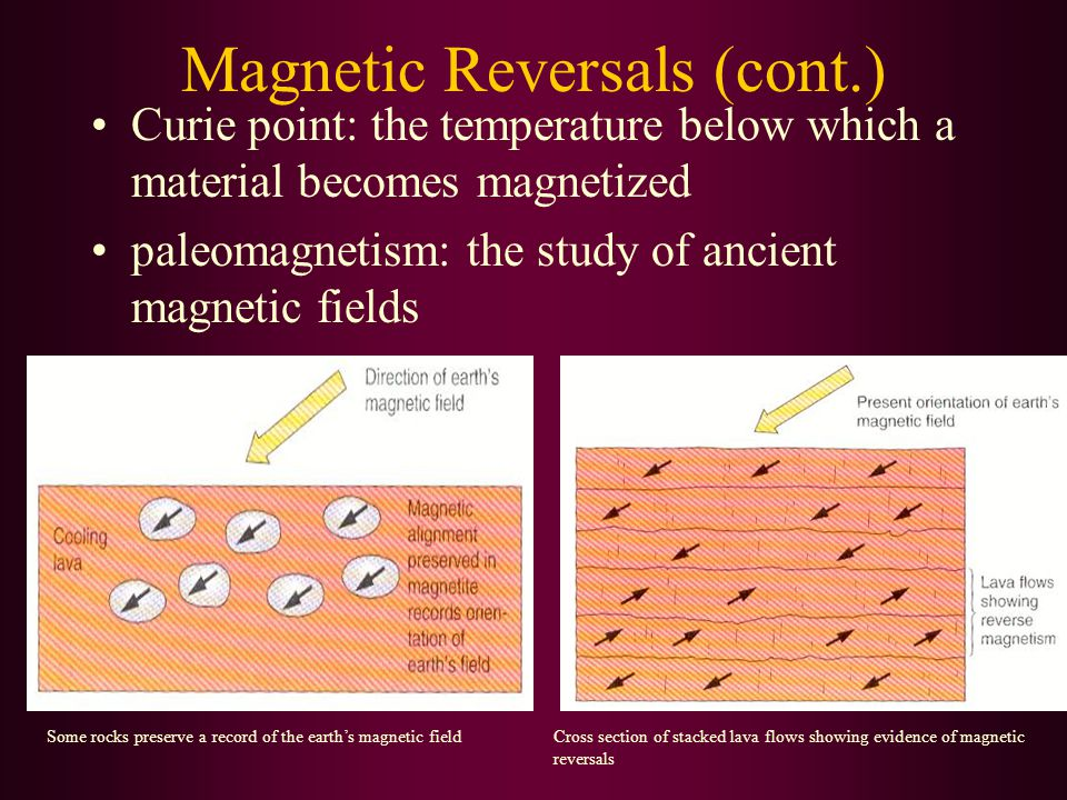 Magnetic Reversals (cont.)