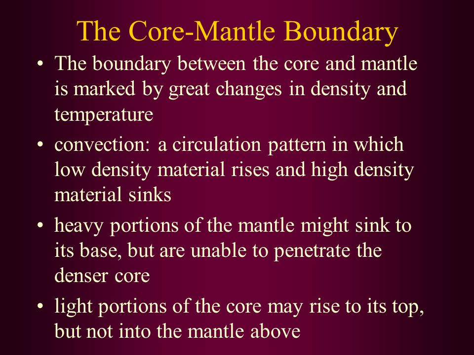 The Core-Mantle Boundary