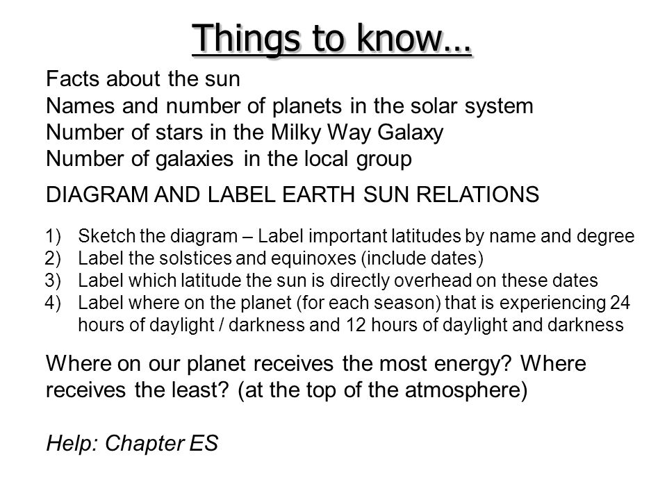 Things to know… Facts about the sun