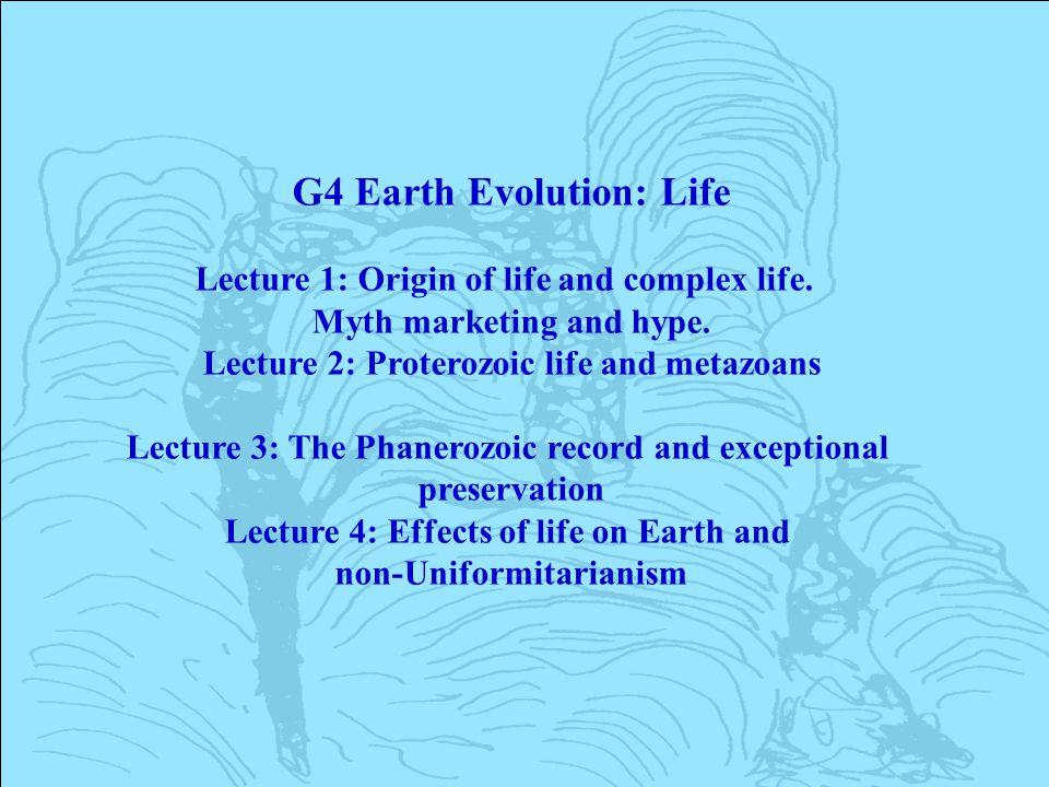 G4 Earth Evolution: Life