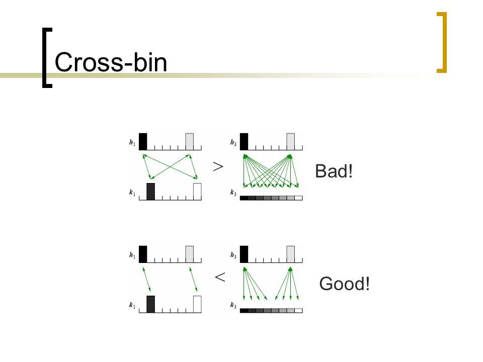Cross-bin Bad! Good!