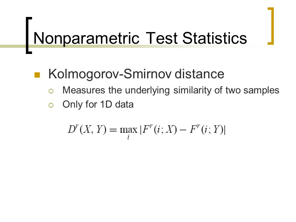 Nonparametric Test Statistics