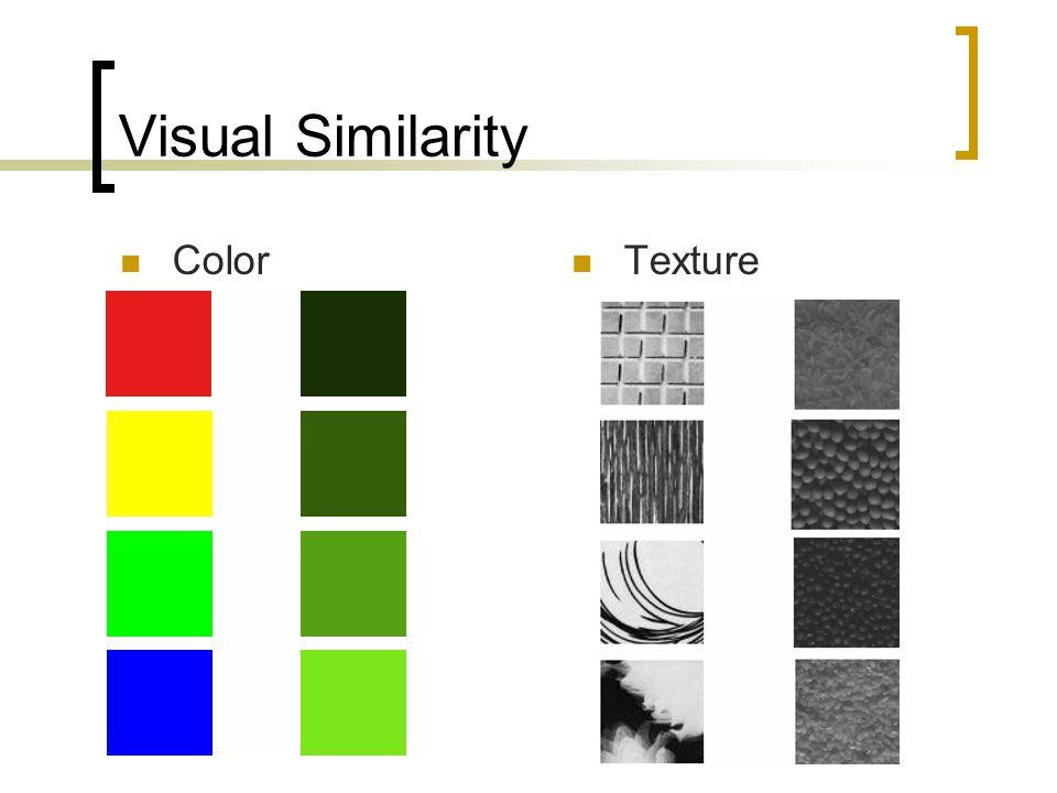 Visual Similarity Color Texture