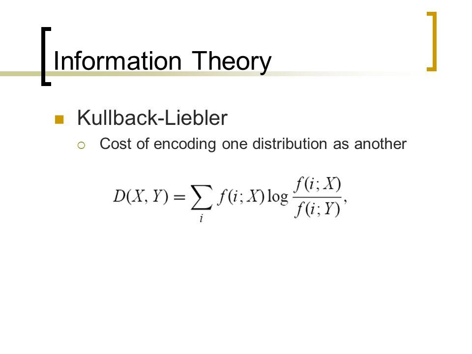 Information Theory Kullback-Liebler