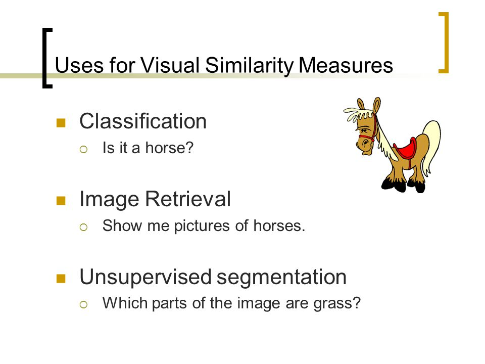 Uses for Visual Similarity Measures