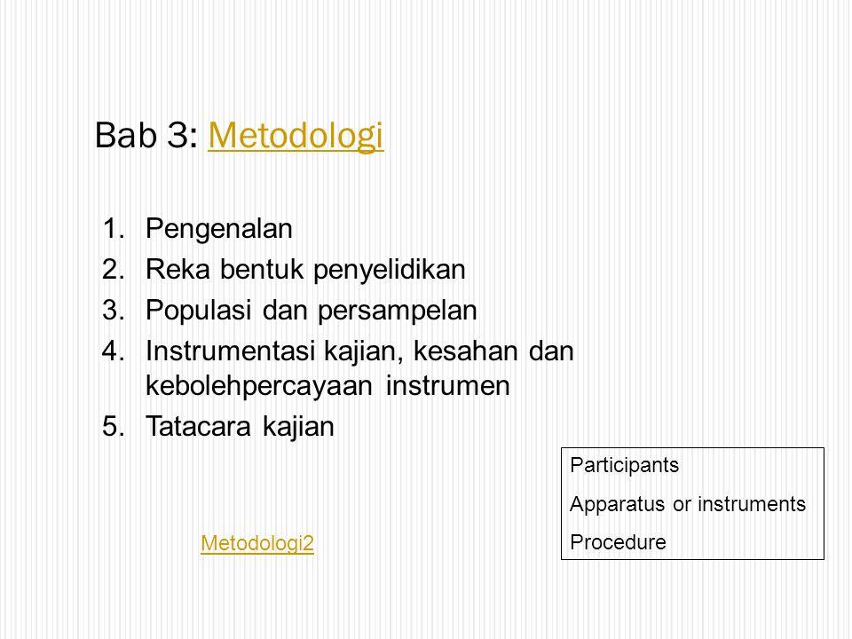 Bab 3: Metodologi Pengenalan Reka bentuk penyelidikan