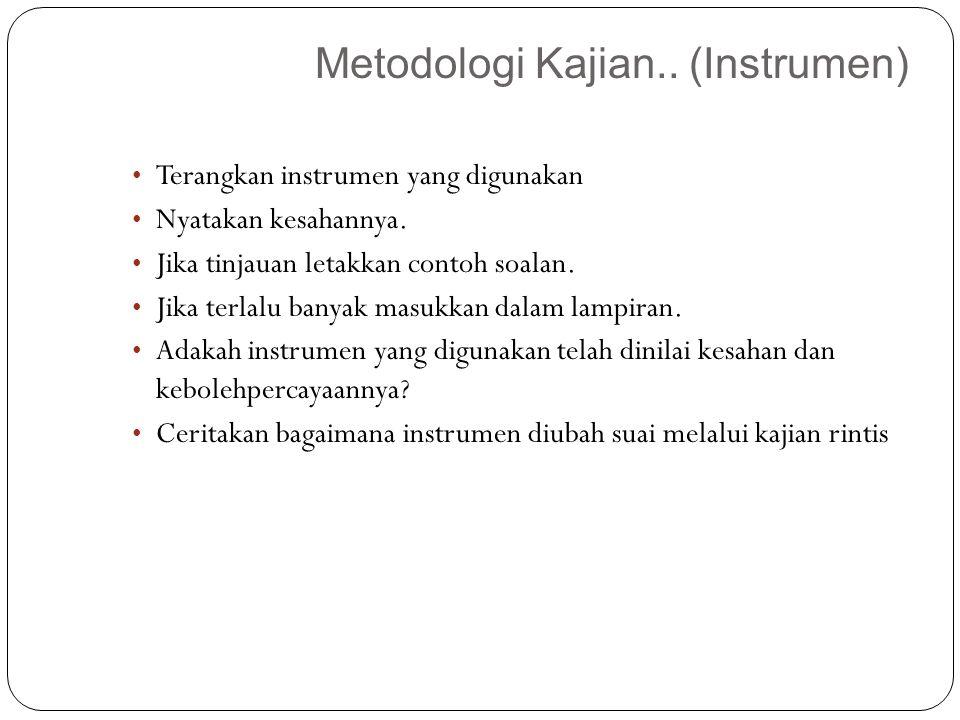 Metodologi Kajian.. (Instrumen)