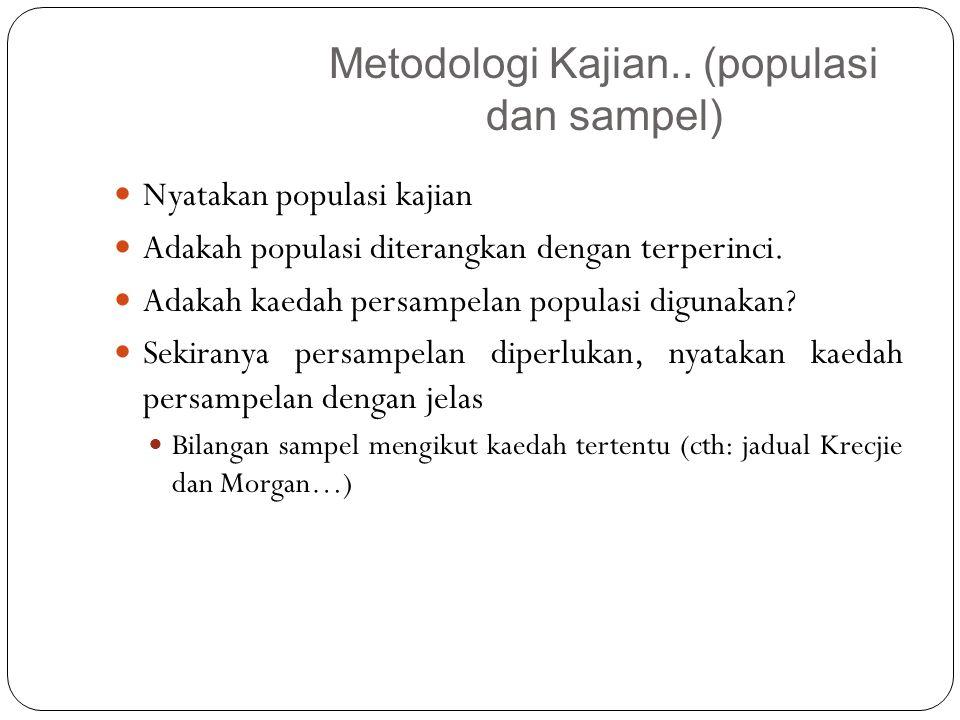 Metodologi Kajian.. (populasi dan sampel)