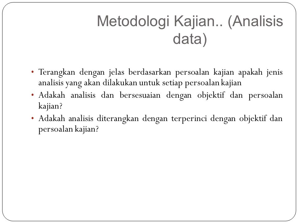 Metodologi Kajian.. (Analisis data)