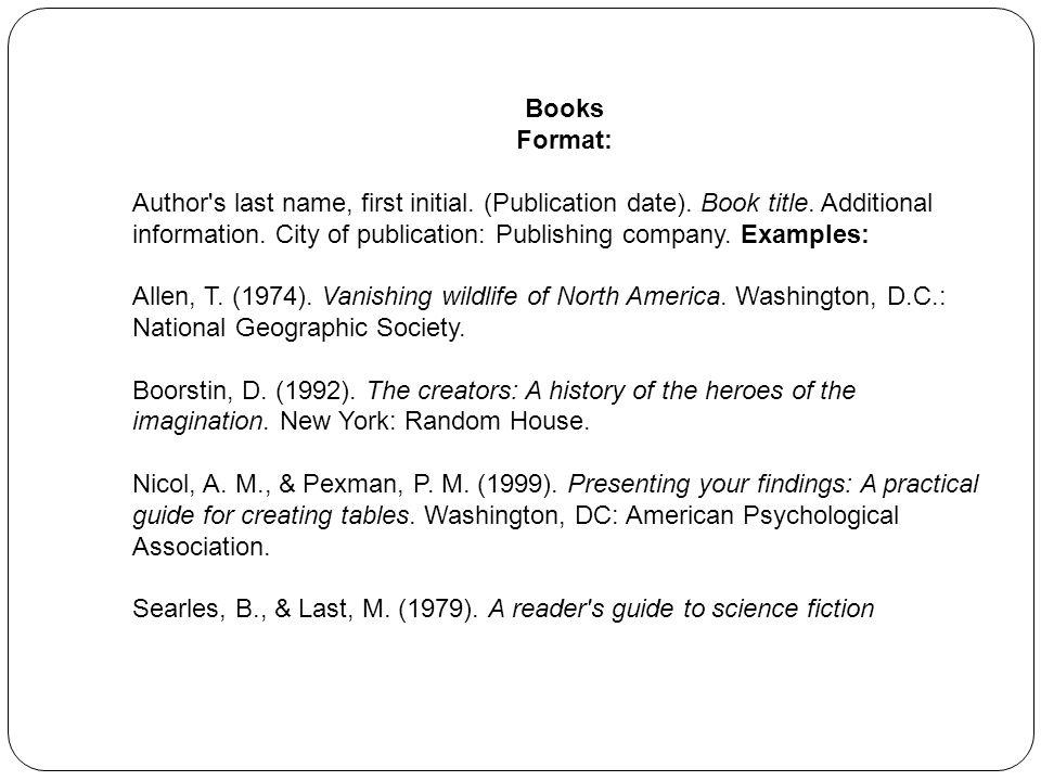 Books Format: