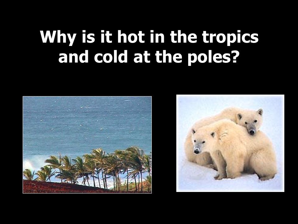 Why is it hot in the tropics and cold at the poles