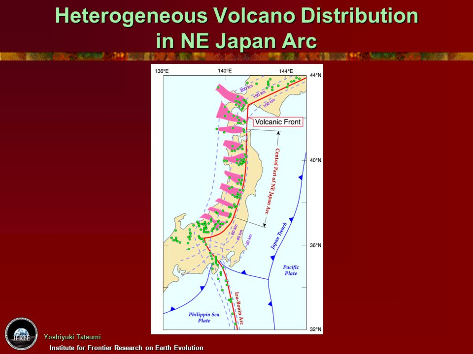 Heterogeneous Volcano Distribution in NE Japan Arc