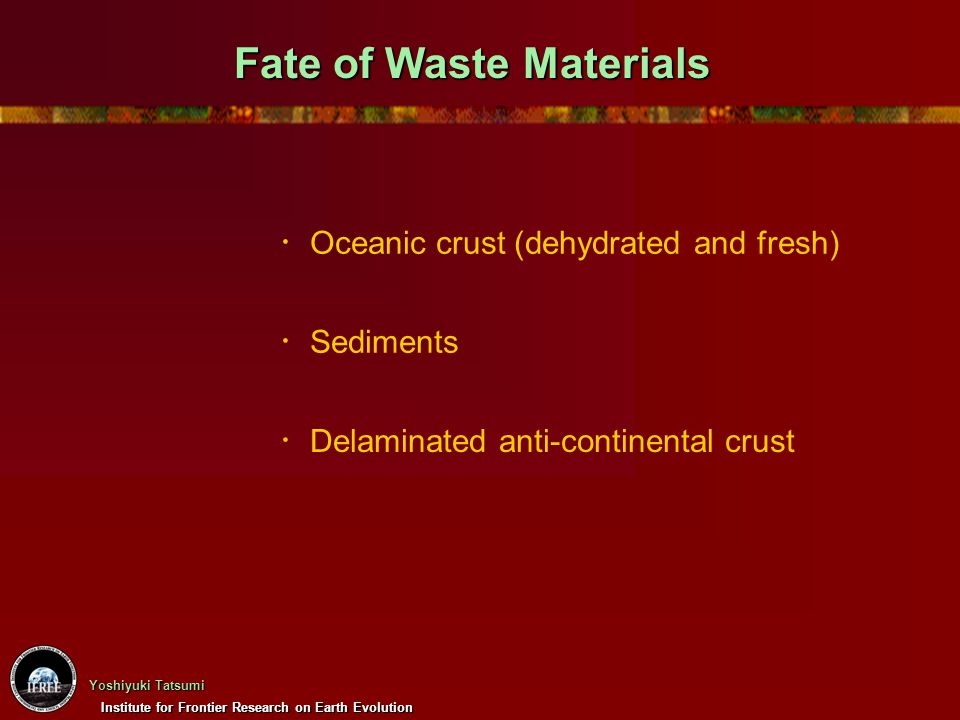 Fate of Waste Materials