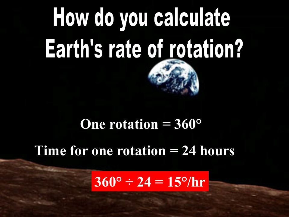 Earth s rate of rotation