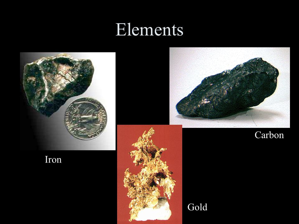 Elements Carbon Iron Gold