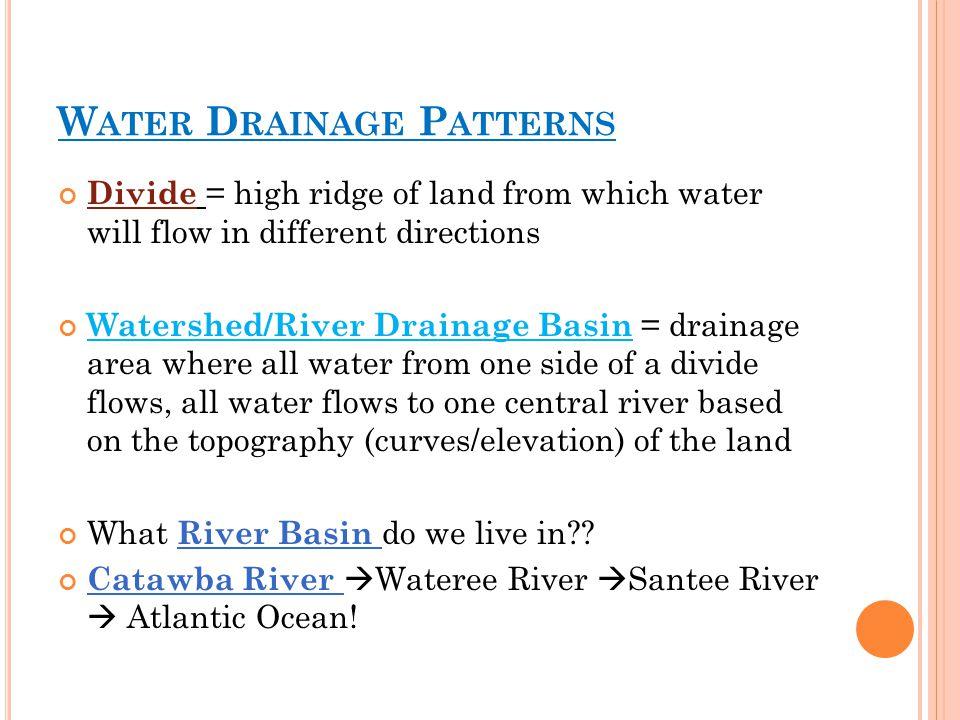 Water Drainage Patterns
