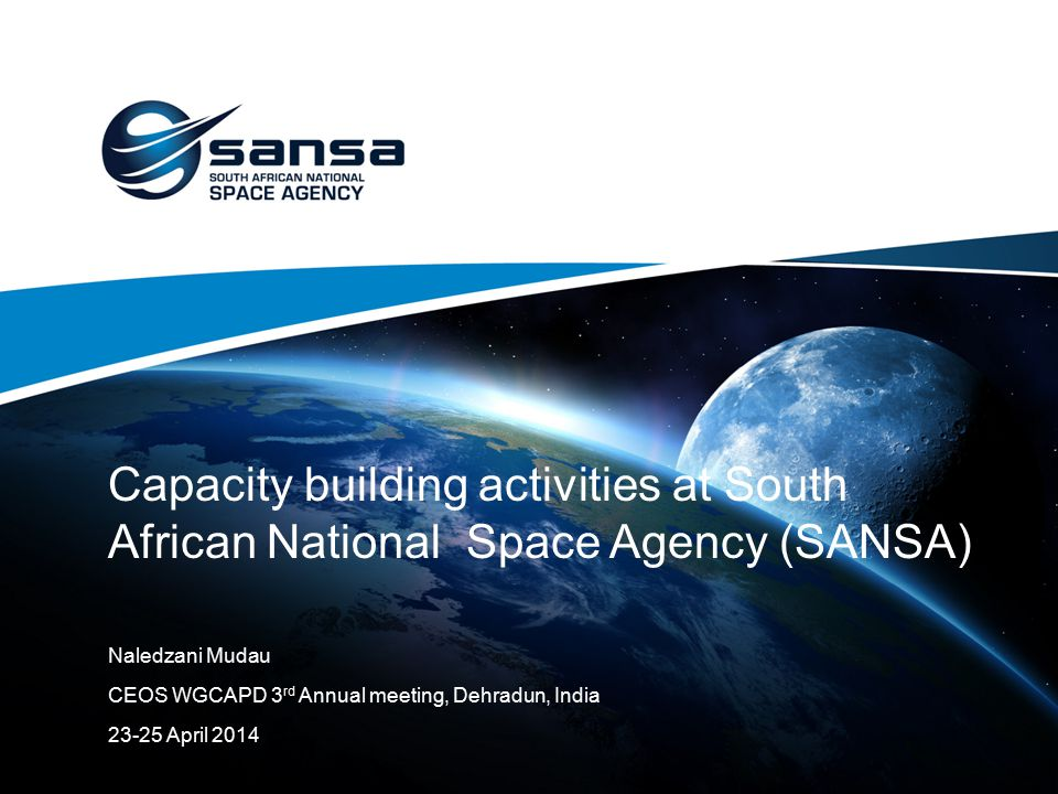 Capacity building activities at South African National Space Agency (SANSA)