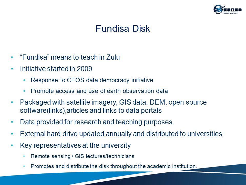 Fundisa Disk Fundisa means to teach in Zulu