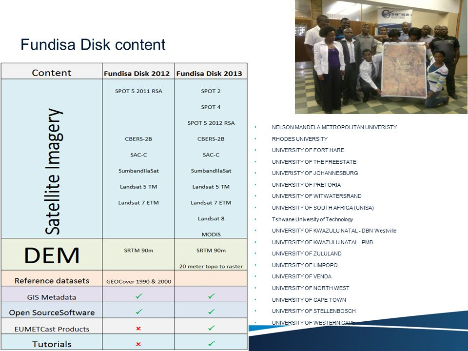 Fundisa Disk content NELSON MANDELA METROPOLITAN UNIVERISTY