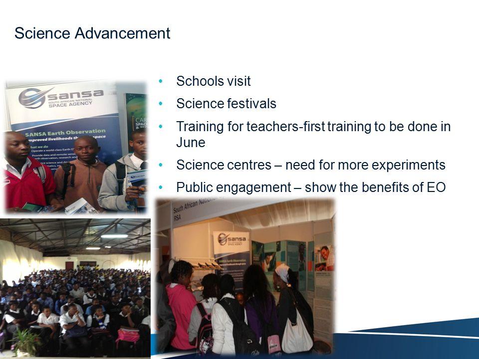 Science Advancement Schools visit Science festivals