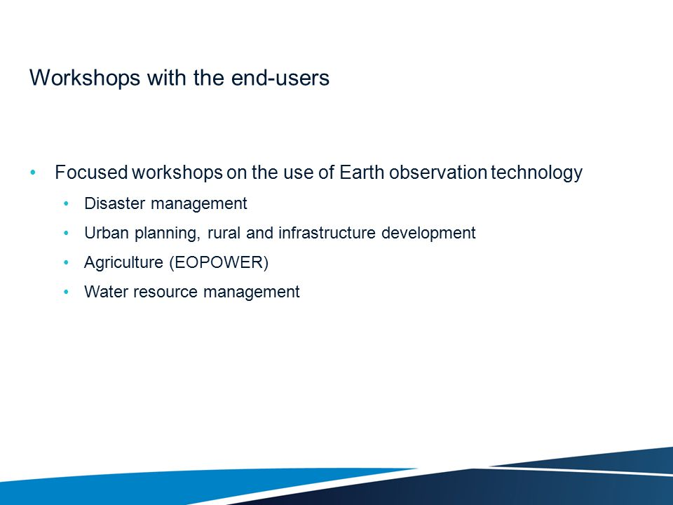 Workshops with the end-users