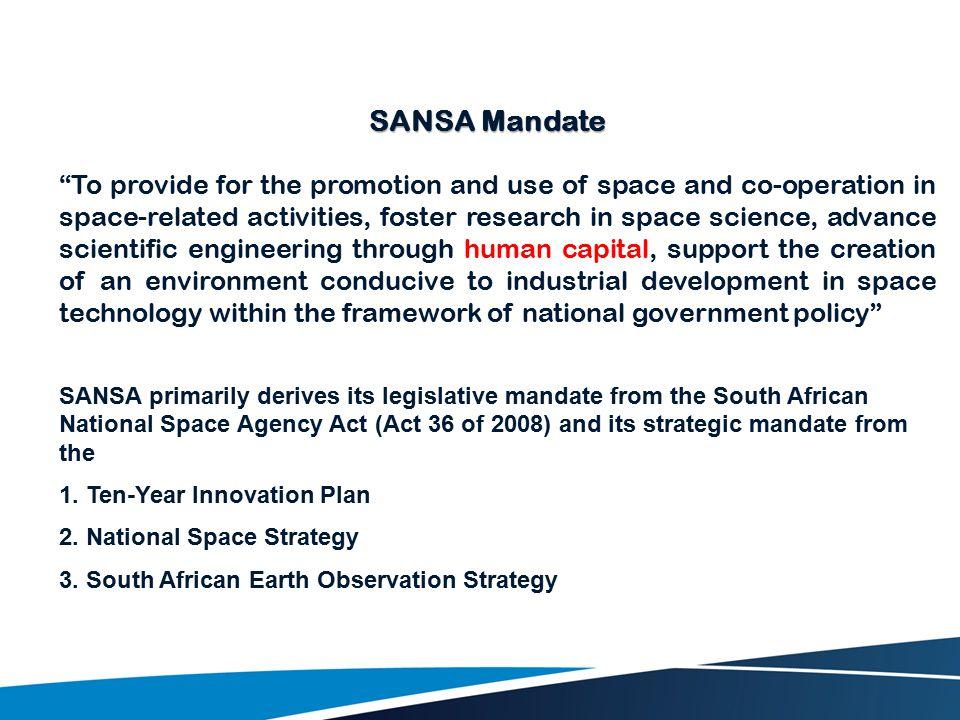 SANSA Mandate