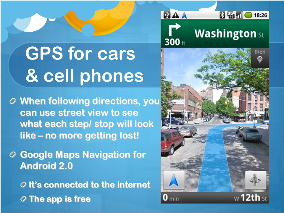 GPS for cars & cell phones