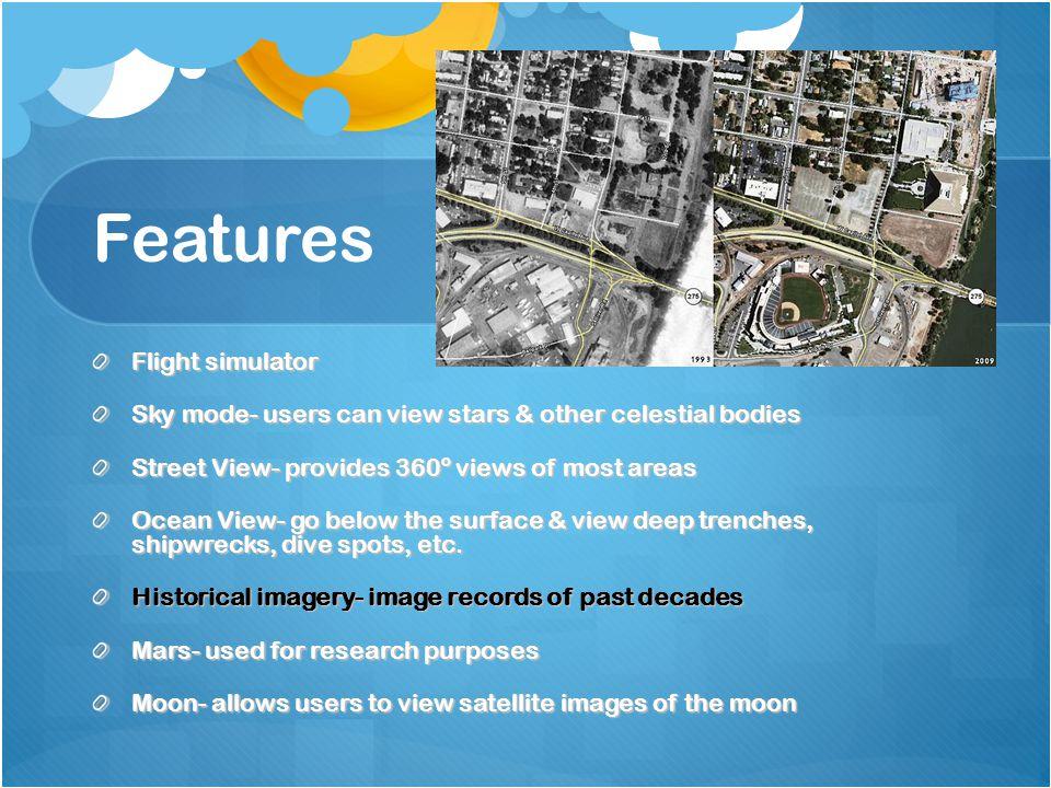 Features Flight simulator