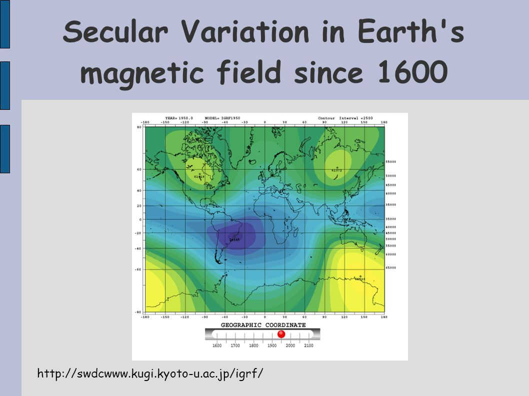 Secular Variation in Earth s magnetic field since 1600