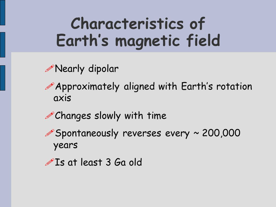 Characteristics of Earth's magnetic field