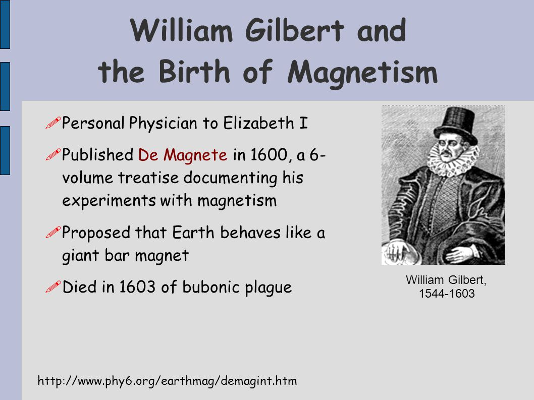 William Gilbert and the Birth of Magnetism