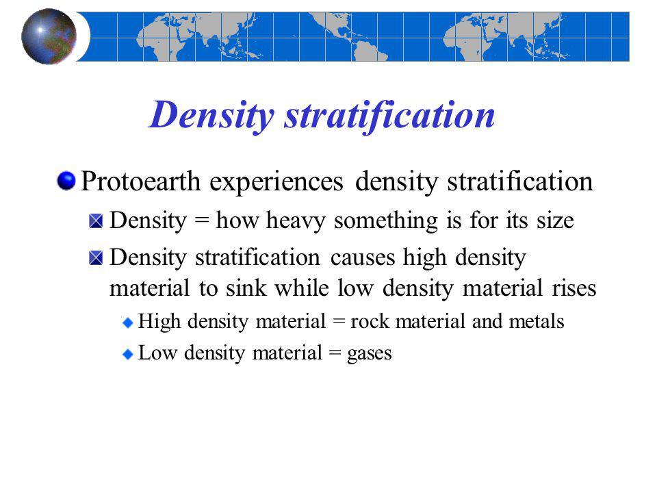 Density stratification