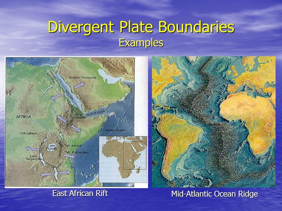 Divergent Plate Boundaries Examples