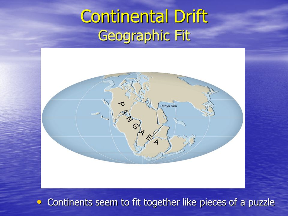 Continental Drift Geographic Fit