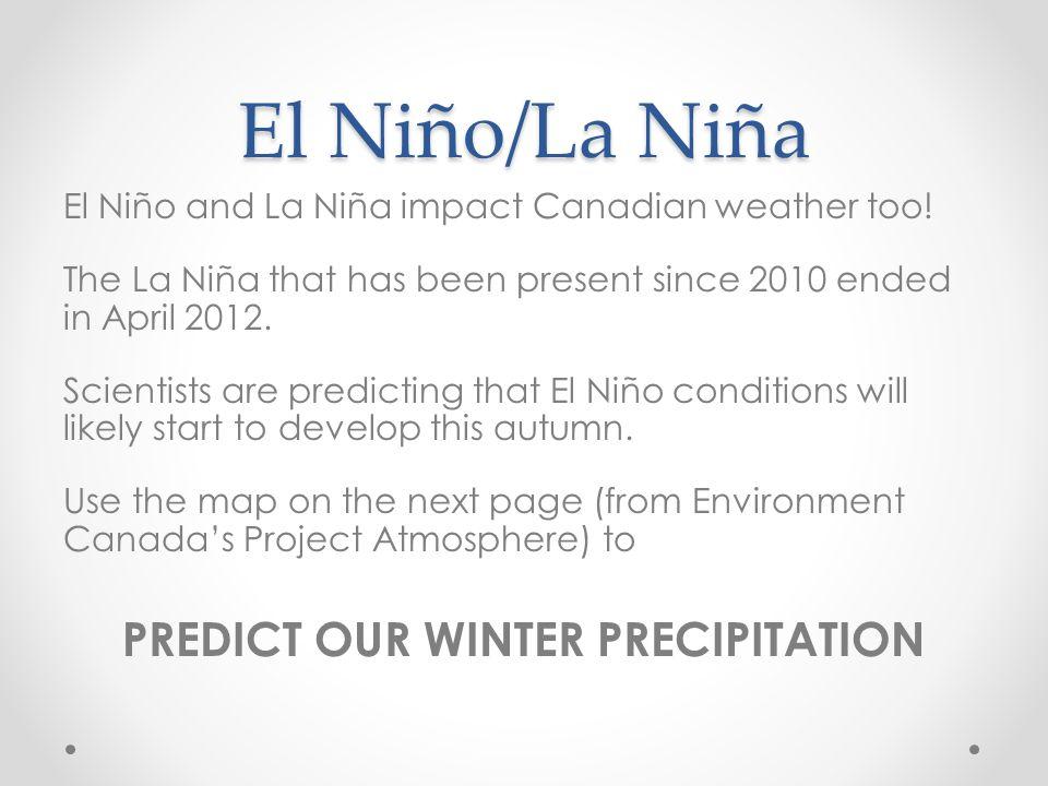 PREDICT OUR WINTER PRECIPITATION