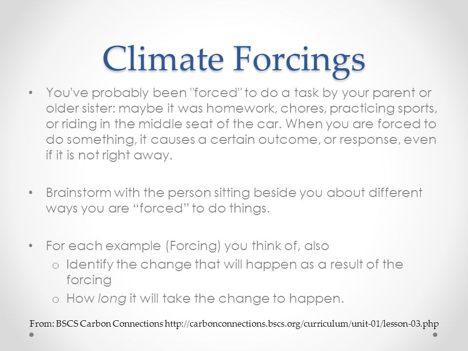 Climate Forcings