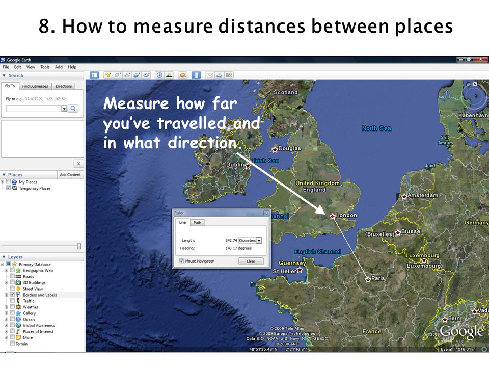 8. How to measure distances between places