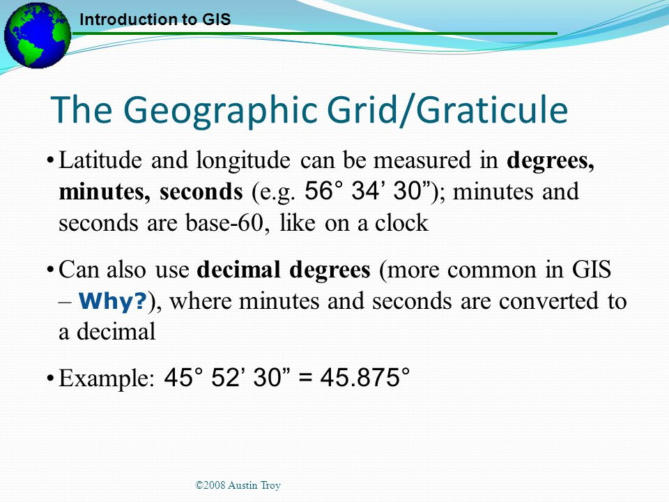 The Geographic Grid/Graticule