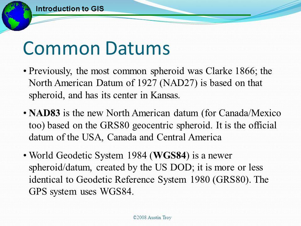 Common Datums