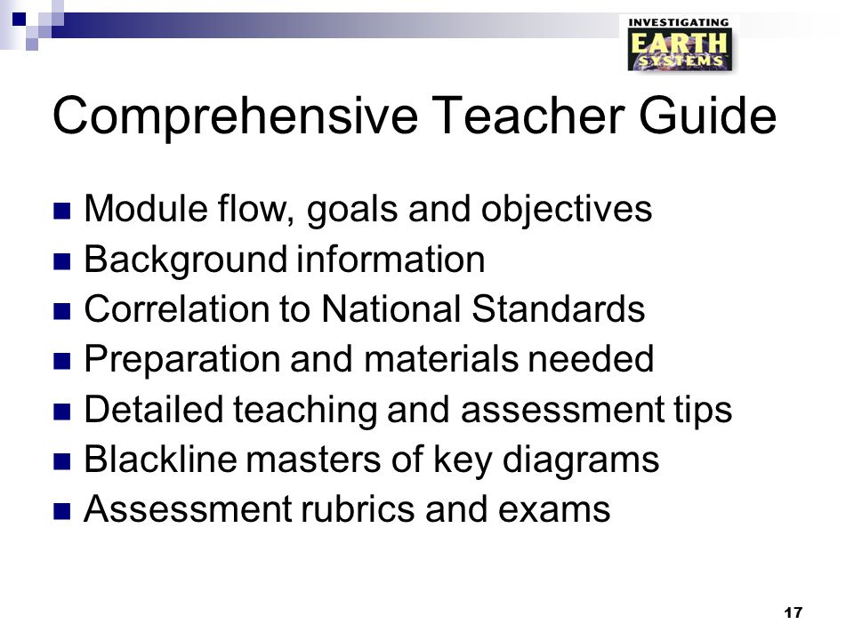 Comprehensive Teacher Guide