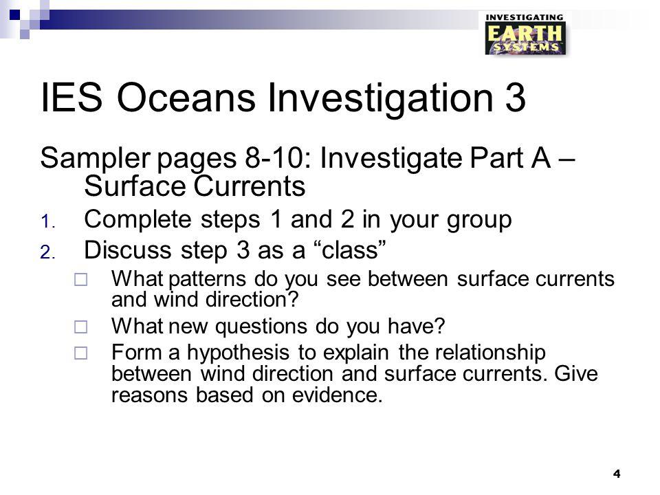 IES Oceans Investigation 3