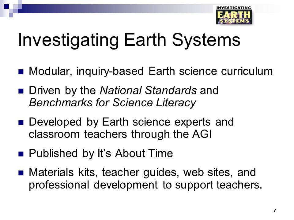 Investigating Earth Systems