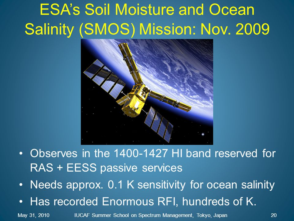 ESA's Soil Moisture and Ocean Salinity (SMOS) Mission: Nov. 2009
