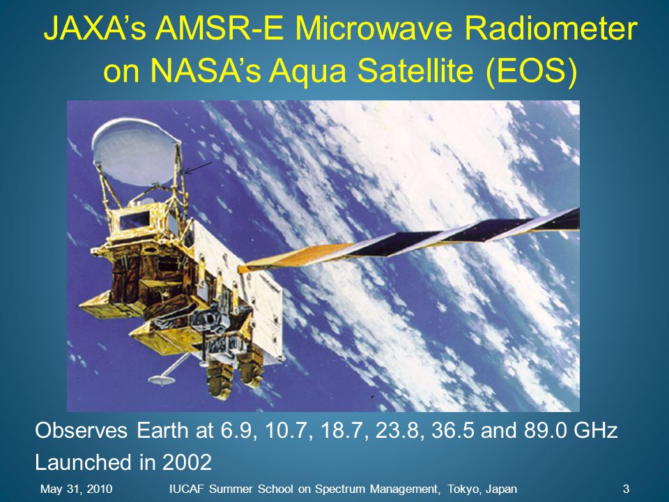 JAXA's AMSR-E Microwave Radiometer on NASA's Aqua Satellite (EOS)