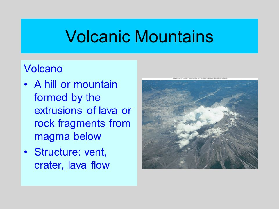 Volcanic Mountains Volcano