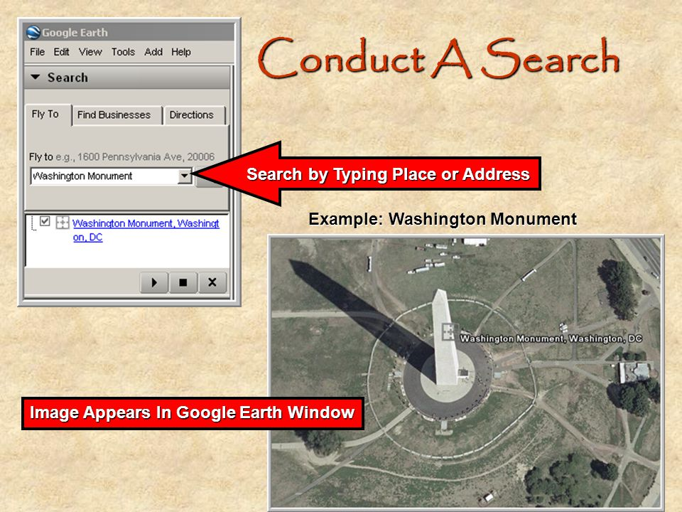 Search by Typing Place or Address
