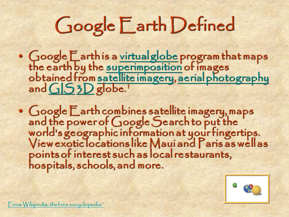 Google Earth Defined