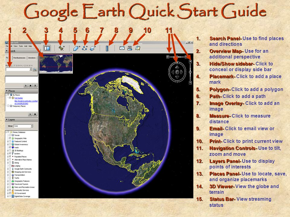 Google Earth Quick Start Guide
