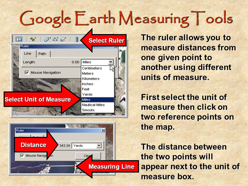 Google Earth Measuring Tools